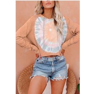 Sun Dance Crop Sweater  Fits slightly oversized